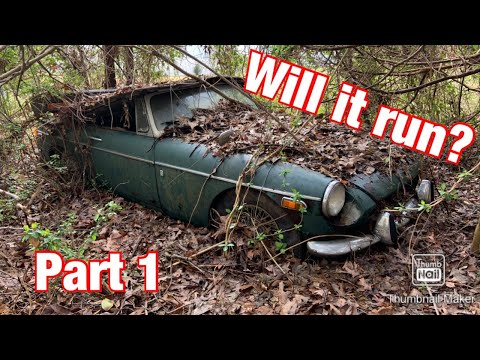 Dragging A 1971 MGB Out Of The Woods After 20 Years! Will It Run? Part 1