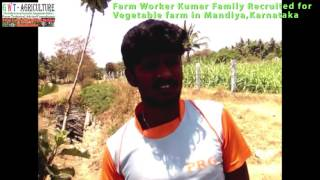 organic vegetable farm labourer-Recruited in mandya,karnataka-sijish nambiar