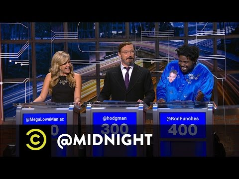 Jessica Lowe, John Hodgman and Ron Funches  Cooklyn  @midnight with Chris Hardwick