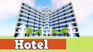 Wie baut man eİn Hotel in Minecraft   Minecraft Hotel Bauen Deutsch Tutorial