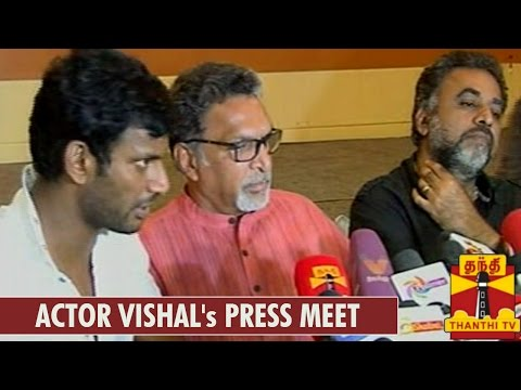Press Meet of Actor Vishal On Nadigar Sangam Building Issue - Thanthi TV