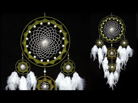 WOW !!! Very Easy And Elegant    How To Make Wall Hanging    Nylon Thread Dream Catcher