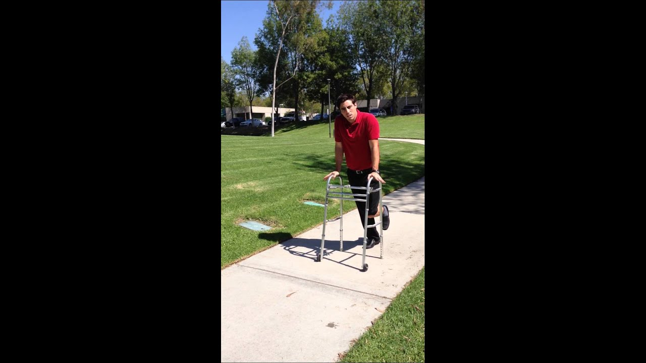 Transport Walker Chair Dining Chairs On Wheels Non Weight Bearing Front Wheel - Youtube