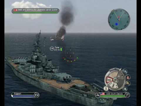Battlestations Pacific pc gameplay Naval Battle
