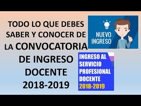 Soy docente convocatoria nuevo ingreso 2018 2019 youtube for Convocatoria concurso de docentes 2016