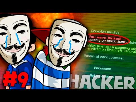 SIENDO HACKERS POR UN DÍA #9 | LUCHANDO VS EL BANEO | USANDO HACKS EN SKY WARS