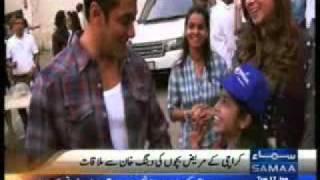 SAMMA News about Make-A-Wish Pakistan Children Met Salman Khan