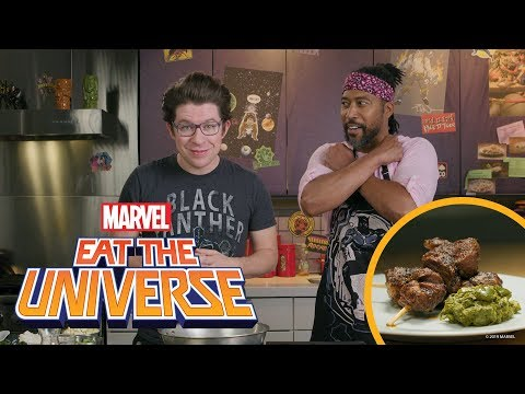 Black Panther's Spicy Goat Brochette and Isombe with James Mathis III