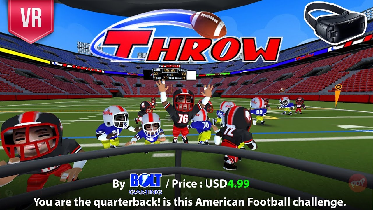 Throw Gear Vr You Are The Quarterback In This Vr American Football 3d Experience
