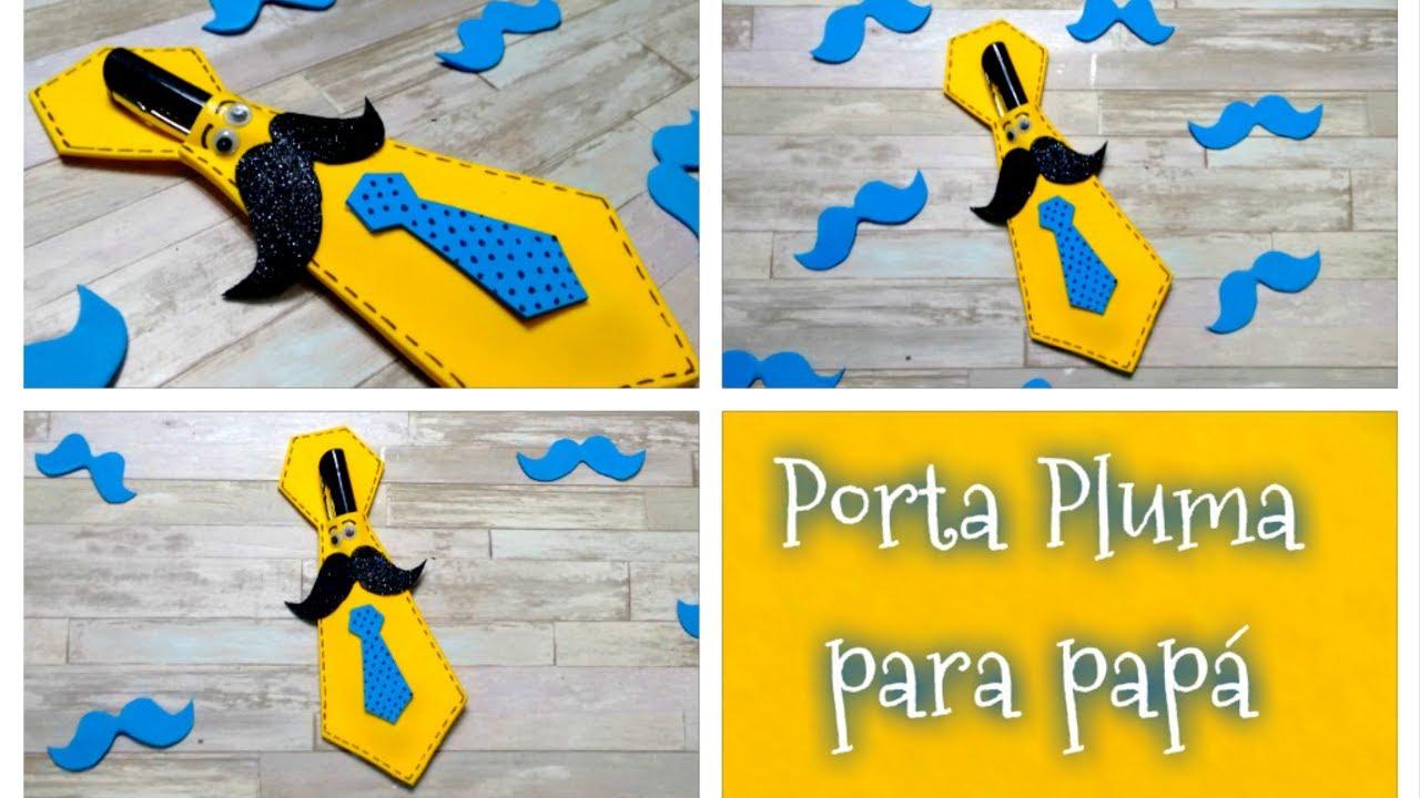 DIY // Porta pluma o lapicero en forma de corbata para regalar el ...