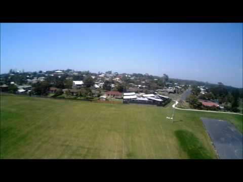 Quadcopter/Floater-Jet, Air-to-Air + Crash.