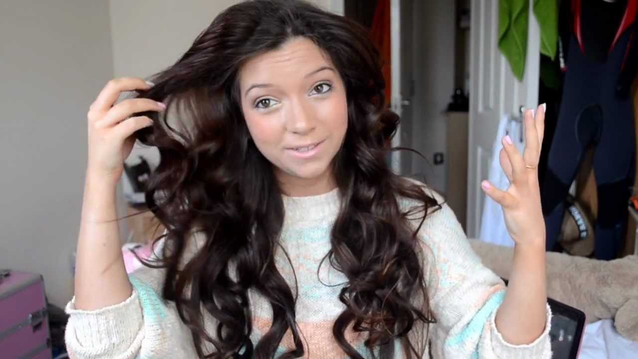 How I Style My Hair: Big, Curls Using Heated Rollers Tutorial   YouTube