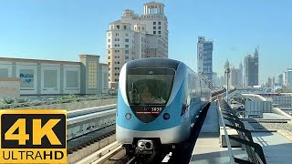 [4K 60fps]Dubai Metro-Journey between Al Rigga and Mall of the Emirates stations on Red line