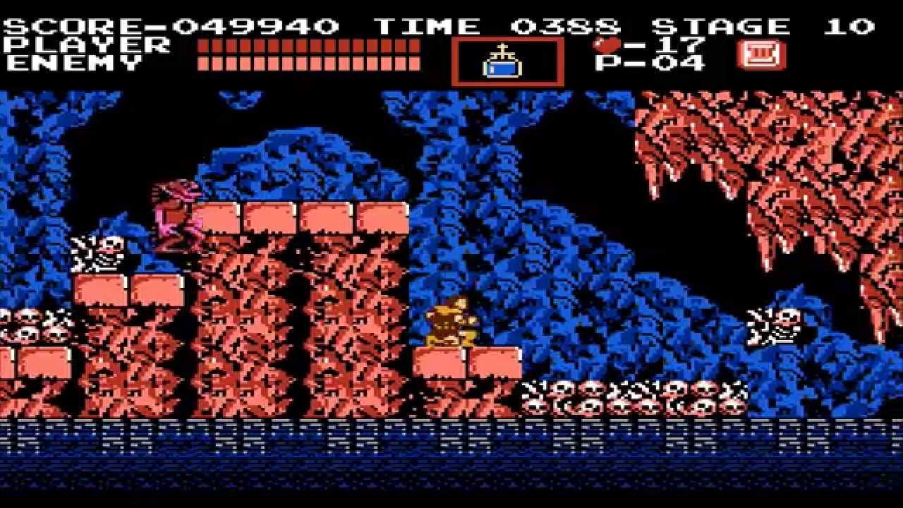 1986 Castlevania Nes Old School Retro Game Playthrough H
