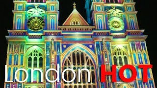 Lumiere London 2018 Westminster Abbey is brought to life with colour and light