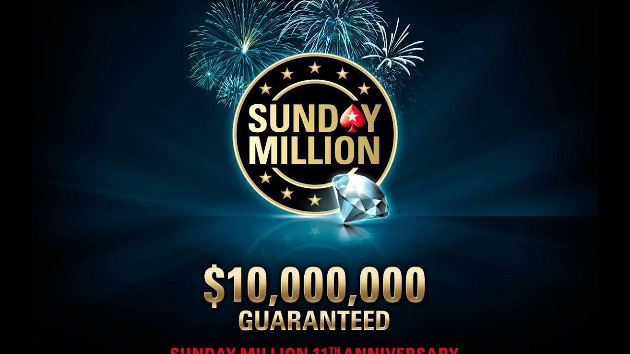 215 sunday million 11th anniversary 2 april 2017 final table
