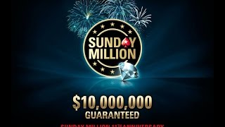 $215 Sunday Million 11th Anniversary 2 April 2017: Final Table Replay - PokerStars
