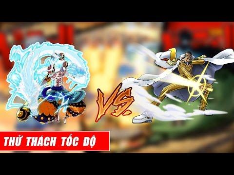 Song đấu One Piece : Trận Tranh Tài Tốc độ - Đô đốc Kizaru Vs Thần Sấm Enel