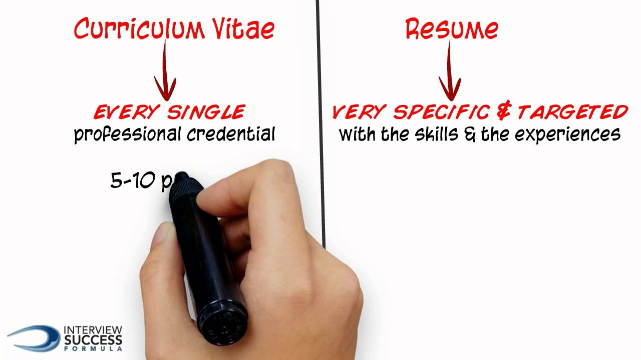 What S The Difference Between A Cv And A Resume Youtube