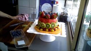 Healthy birthday cake.