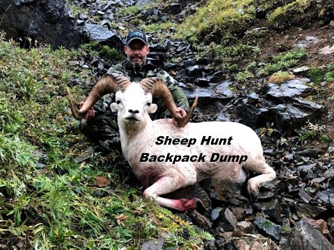 Sheep Hunt Back Pack Dump.