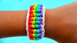 Rainbow Loom Nederlands - Candy Twist Six Bracelet - Loom bands
