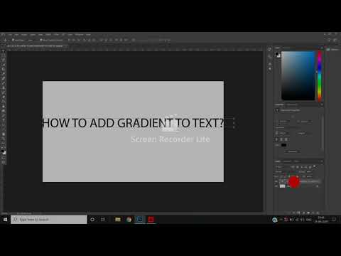 Add Gradient To Text In Adobe Photoshop