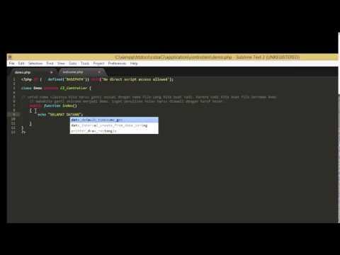Tutorial Membuat Aplikasi Sederhana Dengan Codeigniter