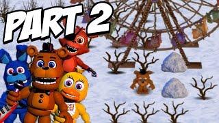 FNAF World 3D Gameplay Walkthrough Part 2 | SNOW Area + BOSS IN 3D!