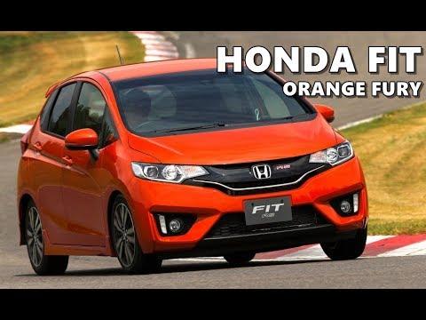 2018 honda fit sport orange fury youtube for Orange honda fit