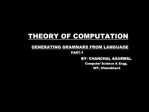GENERATING GRAMMAR FROM LANGUAGE - PART_1 || THEORY OF COMPUTATION