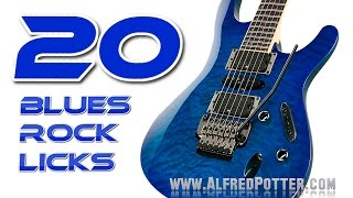 20 Blues Rock Licks with tabs