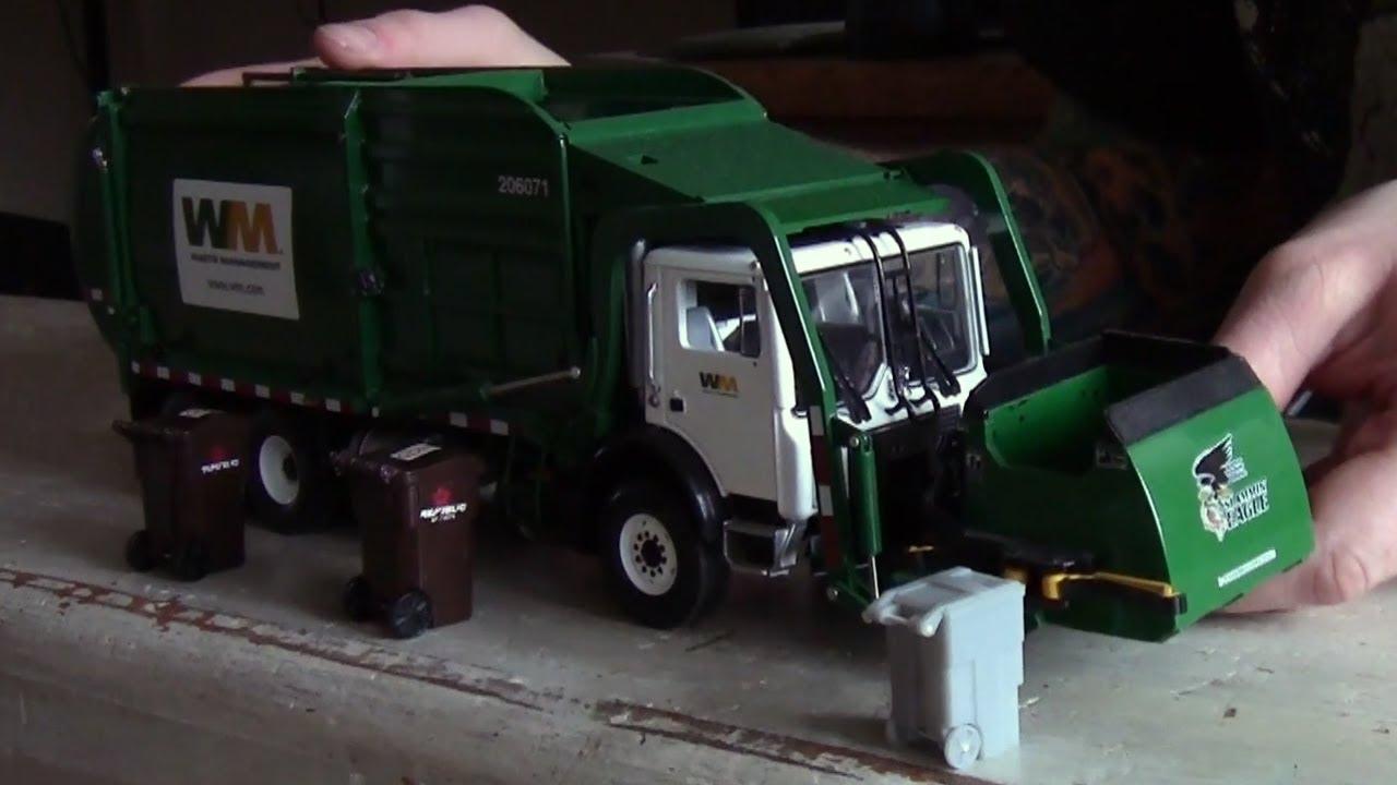 Custom First Gear 1 34 Scale Model Garbage Trucks Youtube