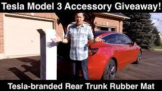 Tesla Model 3 Giveaway Rear Trunk Rubber Mat OEM Tesla Branded
