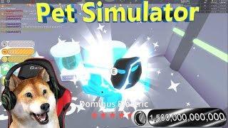 "Roblox Pet Simulator 400+ Dominus rainbow+ Electric GIVEAWAY!"" 🐾🐕Breaking tier 17 eggs!! 🐕🐾"""
