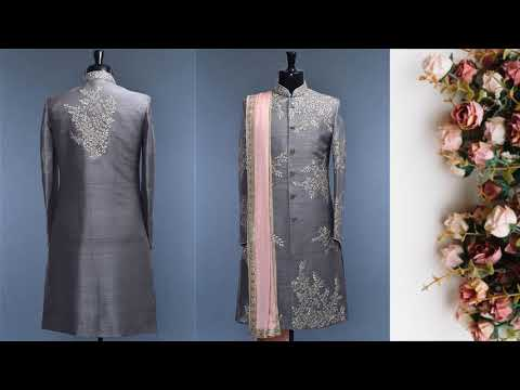 Latest Party wear Sherwani Collection/Groom Sherwani Designs/ Dulha sherwani/Wedding Sherwani - FSHC