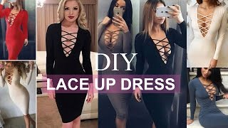 DIY | How To Make A Lace Up Dress + Pattern Making