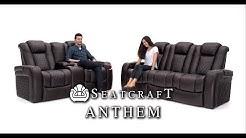 Seatcraft Anthem Media Room Set Top Grain Leather 7000, Power Headrests, Power Recline