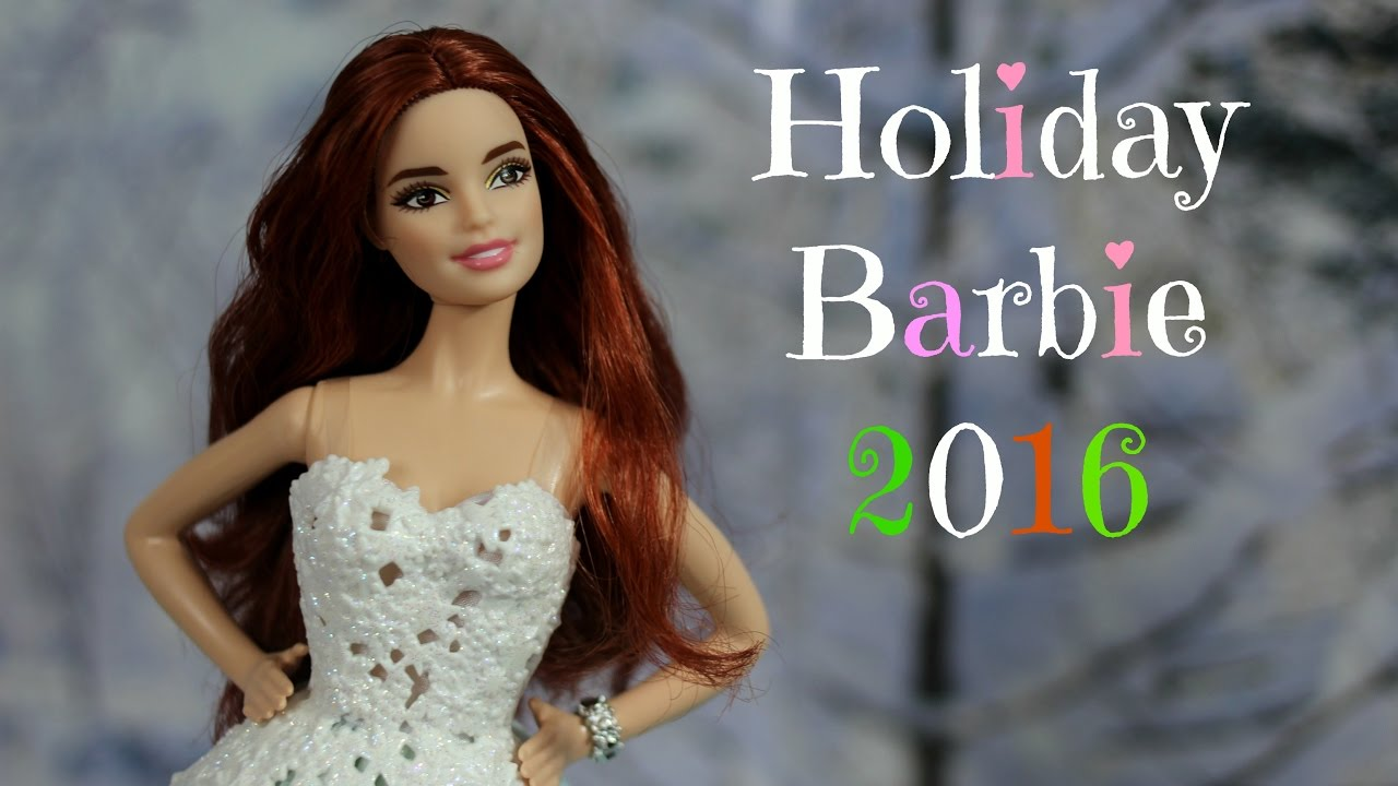 Barbie 2017 Holiday Doll Blonde Hair: Barbie Chat #2: Holiday Barbie 2016 Kmart Exclusive Auburn