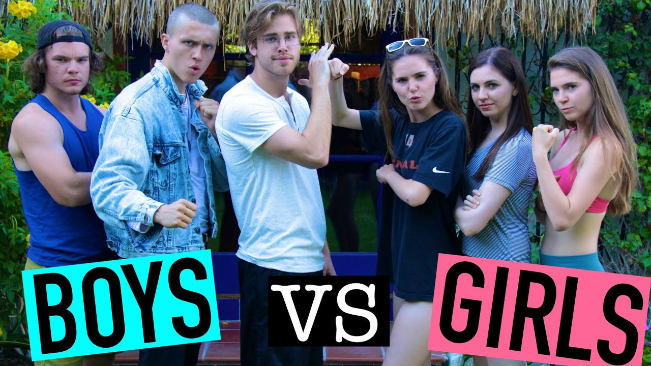 BOYS VS GIRLS CHALLENGE NinaAndRanda - YouTube