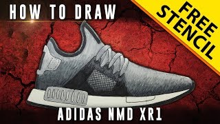 How To Draw: Adidas NMD XR1 w/ Downloadable Stencil