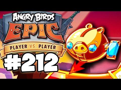 Angry Birds Epic #212 ВЫПАЛА УЛУЧШЕННАЯ СВИНЬЯ КОПИЛКА Геймплей Прохождение  Gameplay Walkthrough