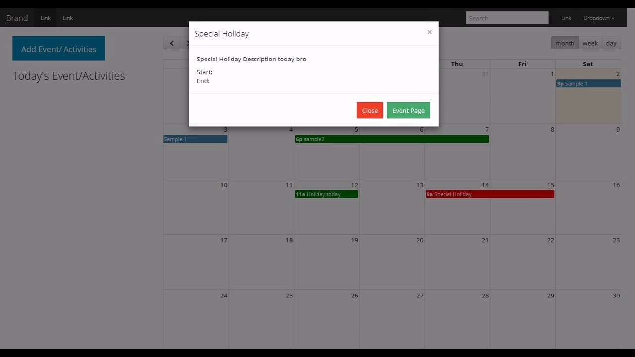 codeigniter fullcalendar intergration with ajax on going