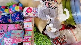 Покупки для рукоделия/Красивые материалы для канзаши/Shopping For Kanzashi