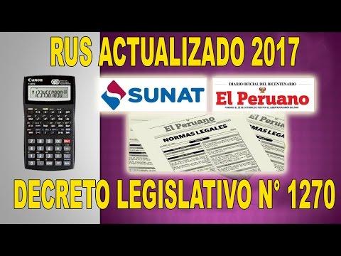 NUEVO RUS MODIFICADO 2017 POR DECRETO LEGISLATIVO N°1270