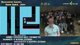 VVVVVV [PC] :: Live SPEED RUN (0:25:13) (All Trinkets) by FieryBlizzard #AGDQ 2014