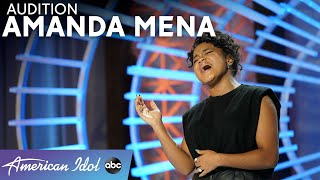 Wow! Amanda Mena Leaves The Judges Speechless...Literally! - American Idol 2021