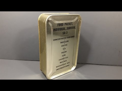 1952 Food Packet Survival Arctic 3 Korean War Military Ration Emergency MRE Review Tasting Test