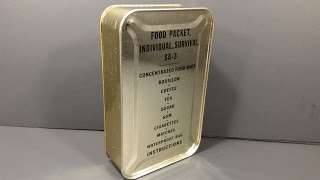 1952 Food Packet Survival Arctic 3 Korean Era Military Ration Emergency MRE Review Tasting Test