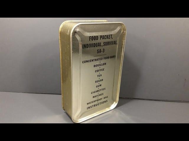 1952 Food Packet Survival Arctic 3 Korean Era Military Ration Emergency MRE Review Tasting Test